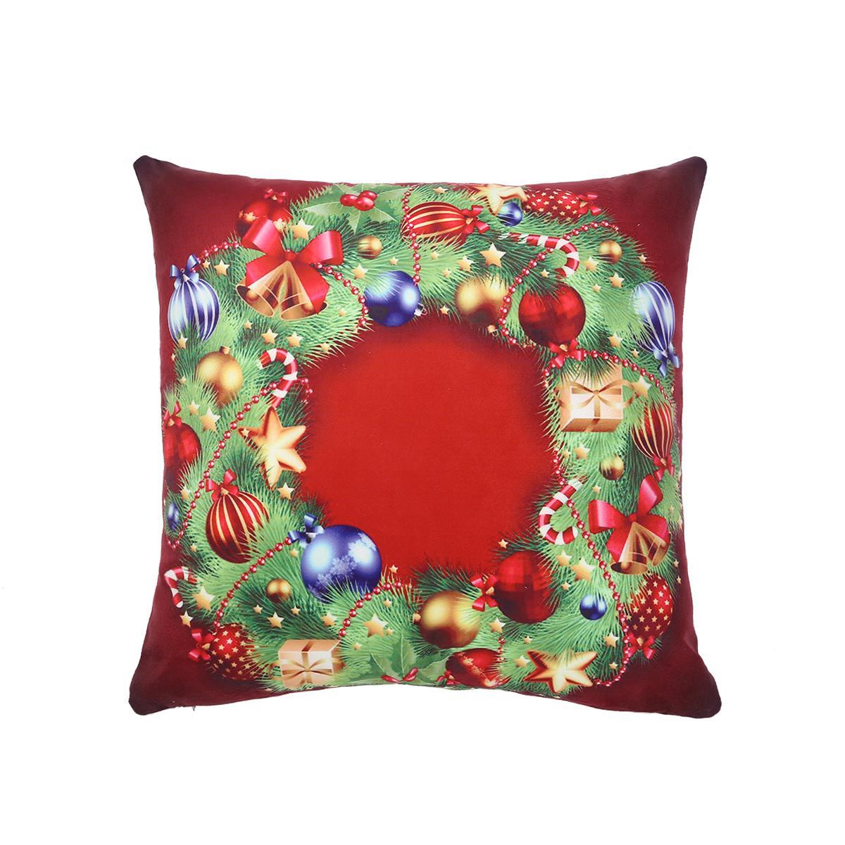 100pcs cuscino copre il cuscino cuscino natale cuscino del fumetto copertura di natale cuscino della serie di natale per cuscino a casa (modello 3)