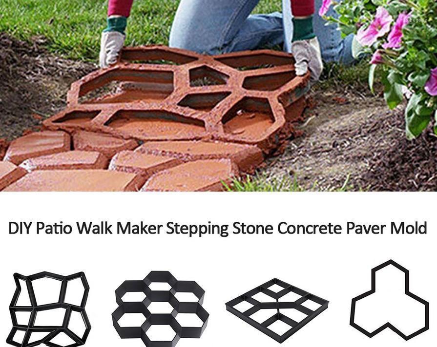 DIY садовый тротуар бетонный ступенька камень плесень сад газон Pathmate Coney Mold1