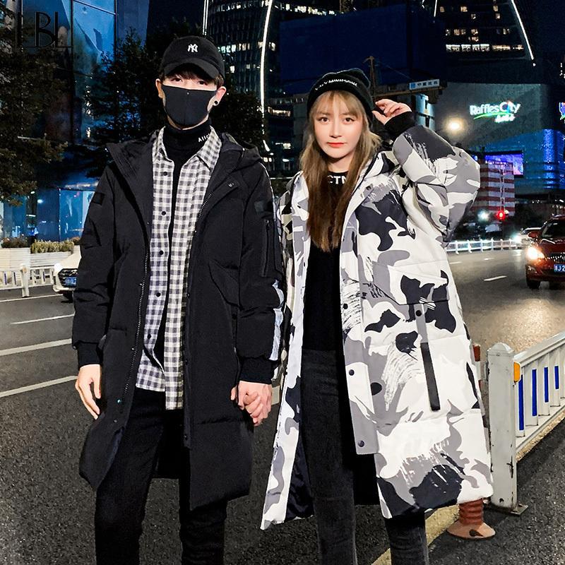 Neue Mann-Frauen-Jacke Outdoor-Bekleidung Winter-lange Art-Ente-unten Mäntel Mann 2020 Hot Sell verdicken Reißverschluss Tarnung Outwear