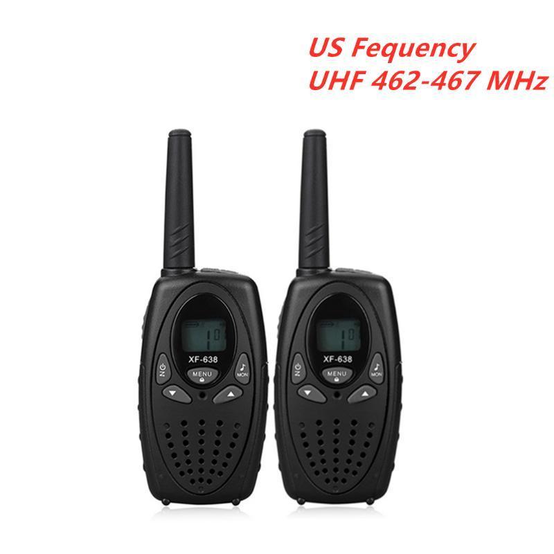 XF-638 portátil Walkie Talkie 2PCS Handheld walkie-talkies XF 638 Radio Two Way Intercom fequency US UE UHF 462-467MHz 446MHz