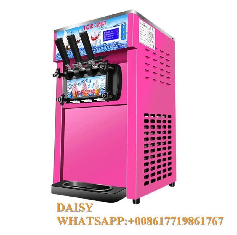 Commerciale Desktop Italiano Morbido Ice Creaming Realizzatore Distributore automatico Dolce Cono Gelato Maker