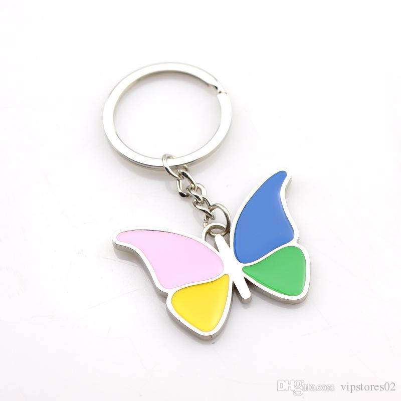 Ins beliebte Schmucksachen-Tropfenkleber-Schmetterling Keychain Kreativer Keychain-Hersteller-Unternehmen Werbungsgeschenk-Aktivitäten Kundengebundene Geschenke