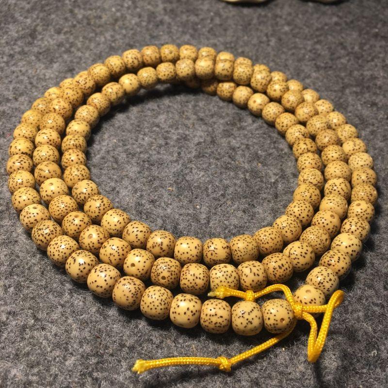 Natural aged seed star moon Bodhi 108 Buddha beads bracelet chicken oil beads braceletBracelet braceletyellow Hainan moon seed MDpkW
