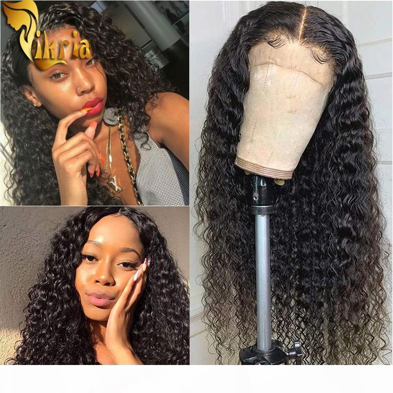 13x4 rendas dianteira peruca encaracolado cacheado cabelo humano peruca de cabelo humano pré arrancado cabelo do cabelo remy cabelo com cabelo bebê para mulheres negras brasileiro peruano