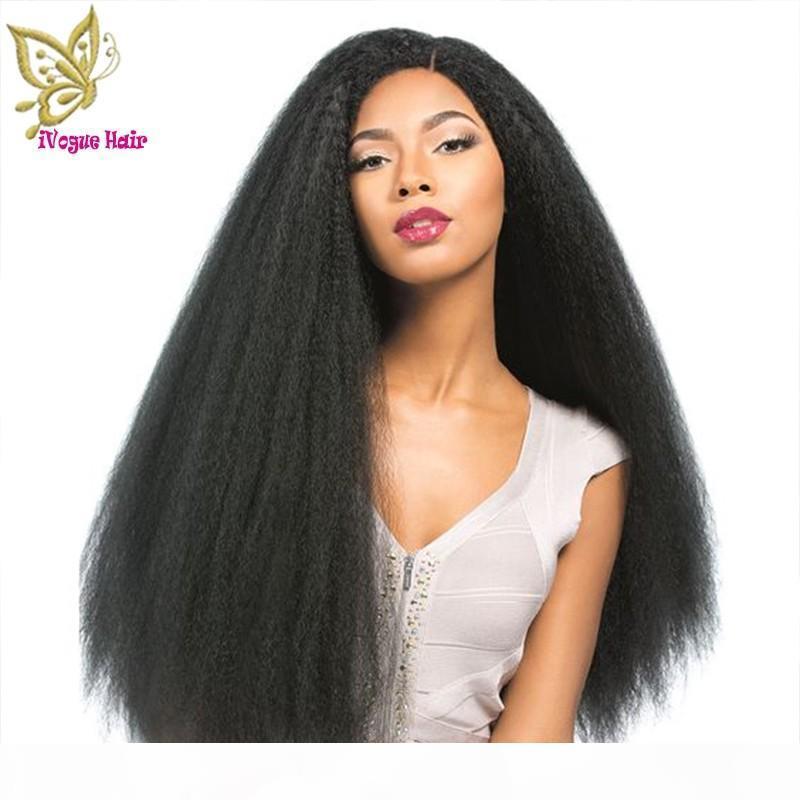 180% Плотность Необработанные Virgin бразильский человеческих волос парик шнурка фронта Яки Прямой полный парик шнурка человеческих волос передний парики шнурка
