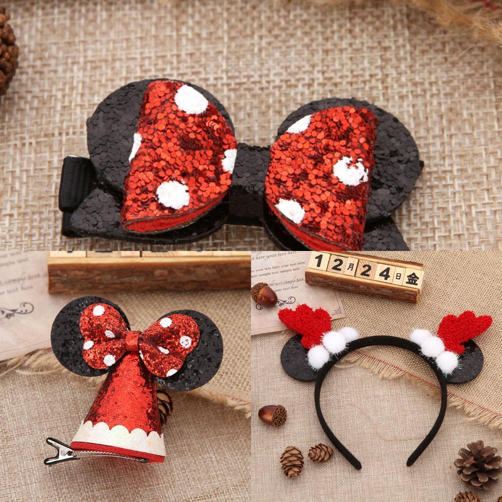 Oído del sombrero del arco de la horquilla bola blanca astas banda de sujeción para decoraciones de Navidad Inicio Fiesta de Año Nuevo Accesorios para el cabello Decor 2021 0GOM