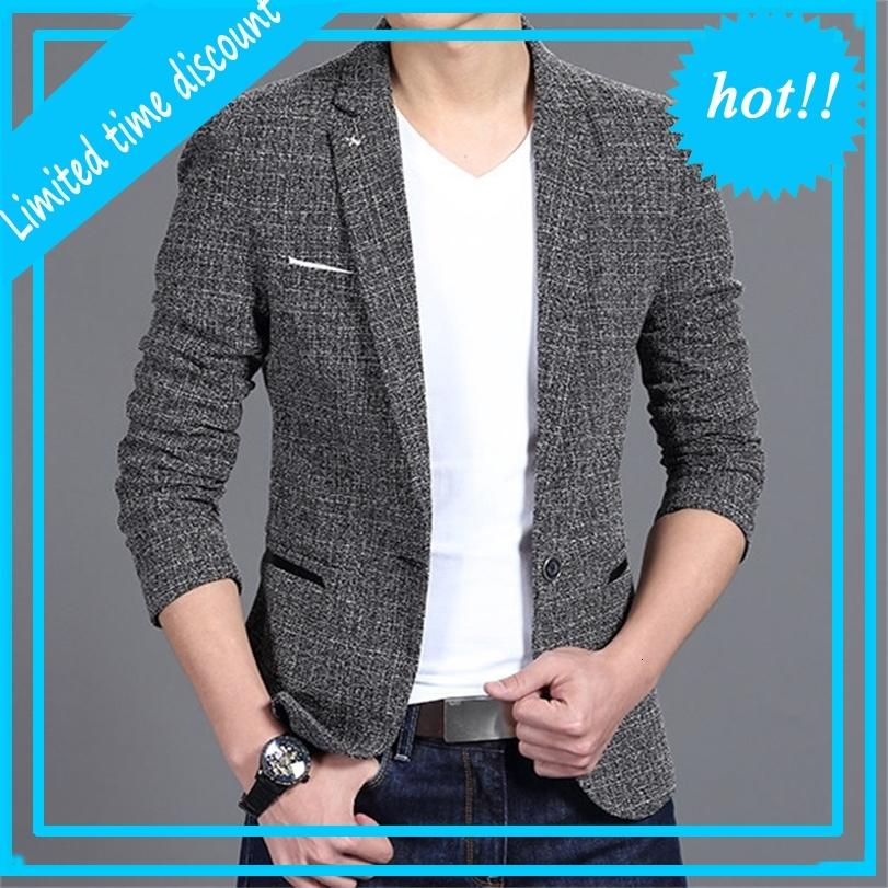Luxury Mark Jacket Blower Lent Fashion A Botão Katoon Slim Fit tomar Terno Masculino Homens
