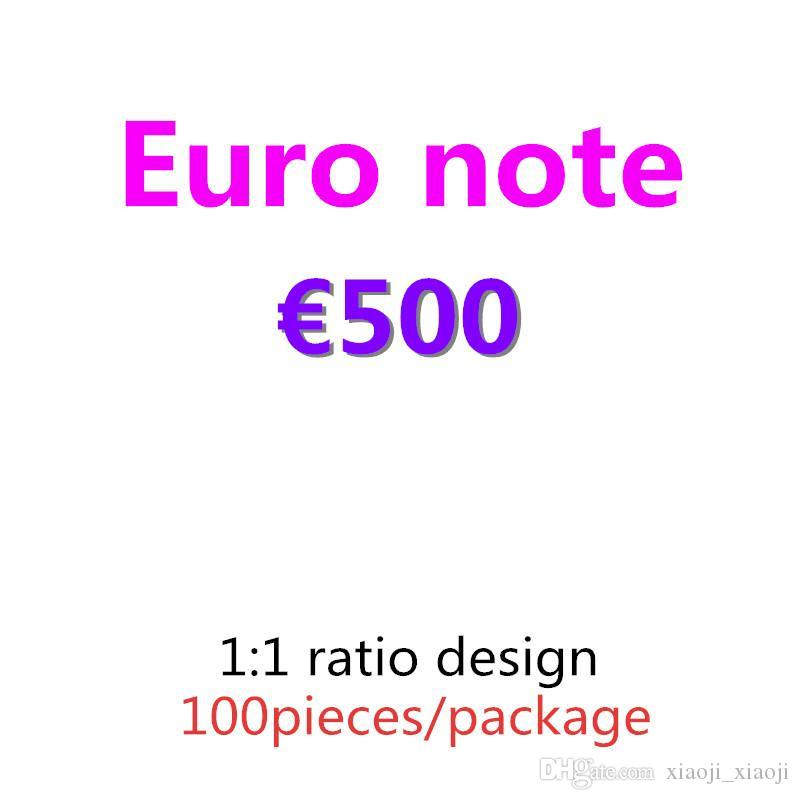 Money Prestention Papier de qualité Euro Dollar Livre 500 07 TOP BANKNOTE PROPCH COPY COLLECTION COLLECTION CADEAUX ET 100PCS / PACK FOURNIS ARGENT WCSCH
