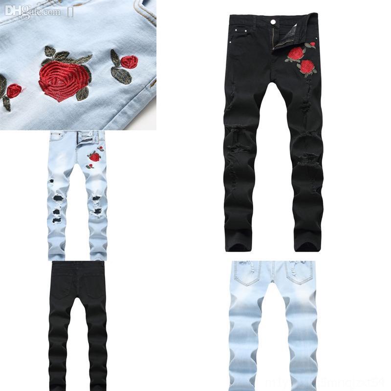 B4rau männer drucken hip marke motorrad jeans hosen denim mann neue mode hop mann casual hosen gemalt jeans bunte weiße dünne baumwolle