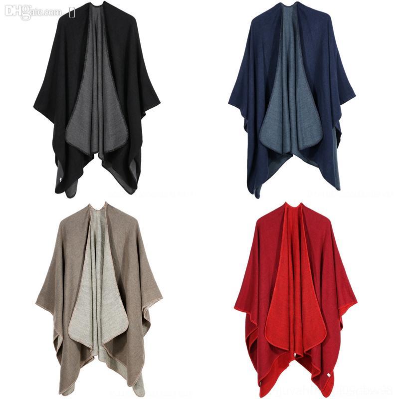 V8MD clássico preto homens manta alta qualidade lenço branco inverno cashmere quente lenços longos cor macho xaile bufandas amarelo lenço