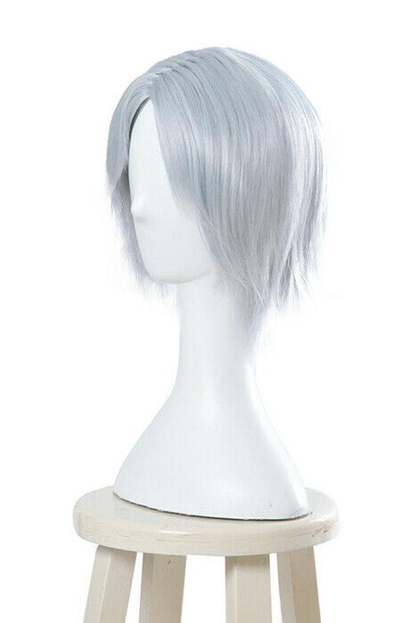 Devil May Cry Dante Cosplay Wig Silver Man Bangs Straight Short Hair Full Wig