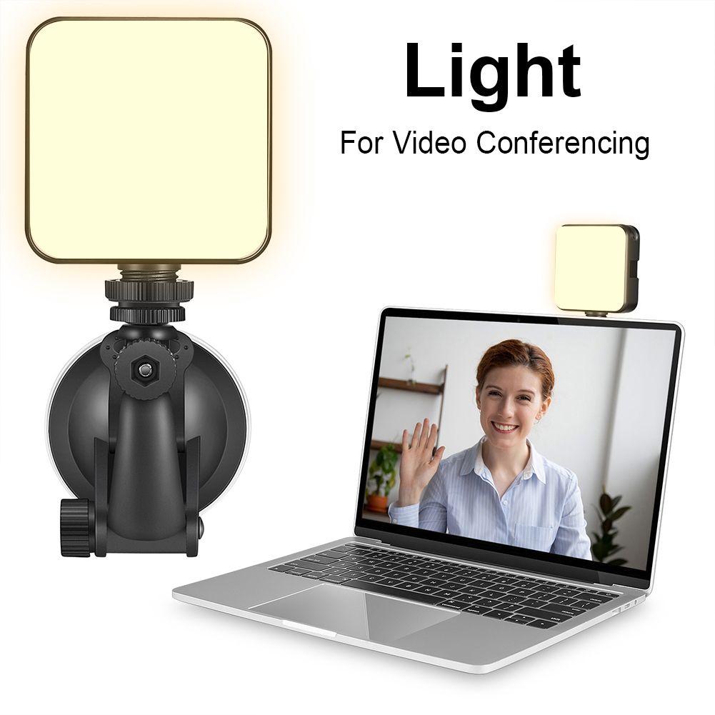 W64 Video Konferans Aydınlatma Dönen Top Başkanı Ayarlanabilir Dolgu Işık Cep Telefonu Kamera Bilgisayar Canlı Fotoğraf Işık Live Yayın
