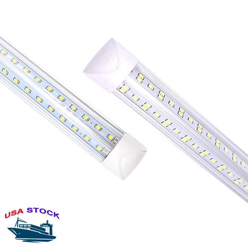 25pcs/box led fluorescent tube V-Shaped Integration T8 Tube Lights Double row 2ft 3ft 4ft 5ft 6ft 8ft Cool White 6000k rohs led