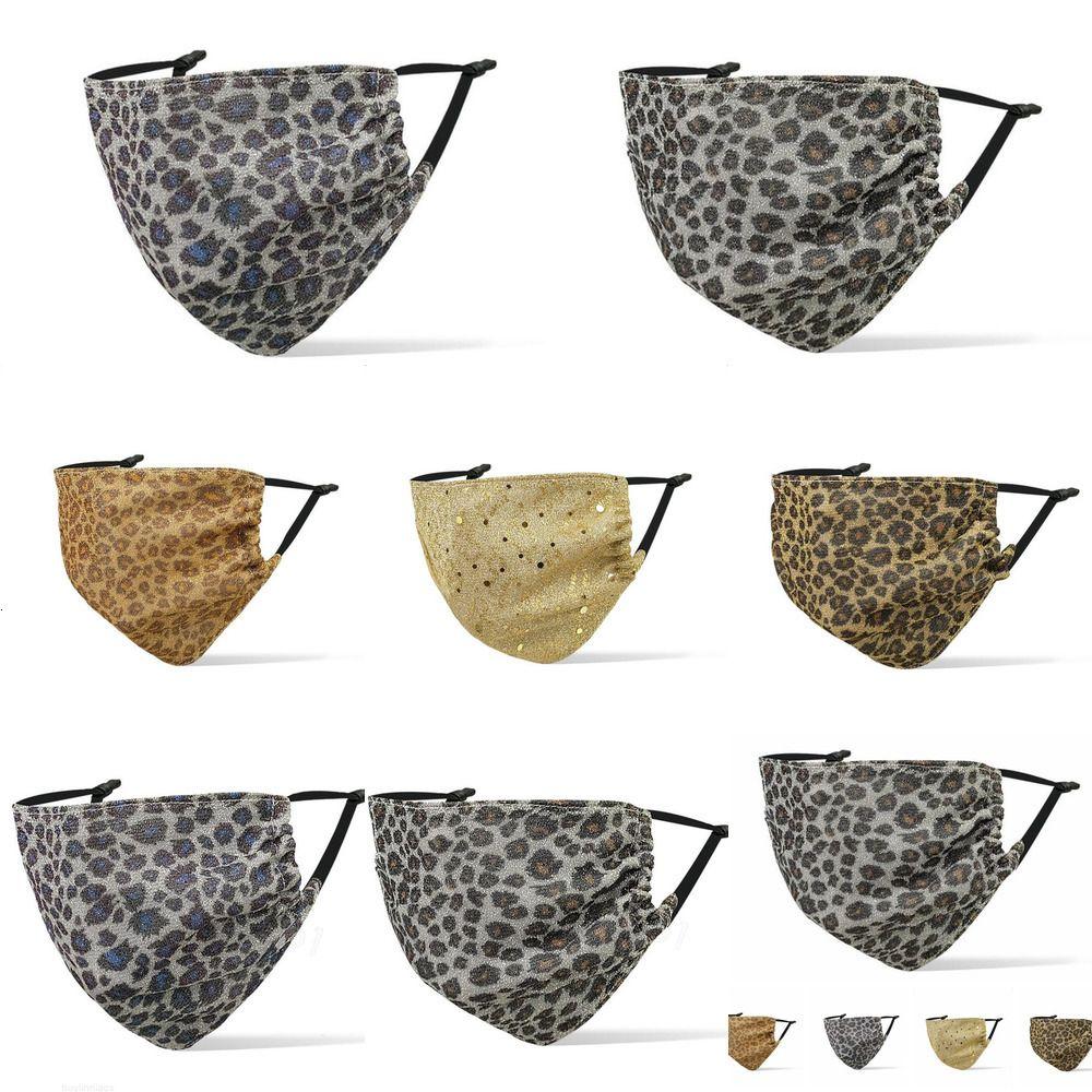 Máscara a prueba de polvo con mayor máscara de leopardo con máscara de leopardo de leopardo de impresión de vacío de oreja cubierta de boca adulto máscaras de moda para adultos de protección al aire libre ajustable MW1