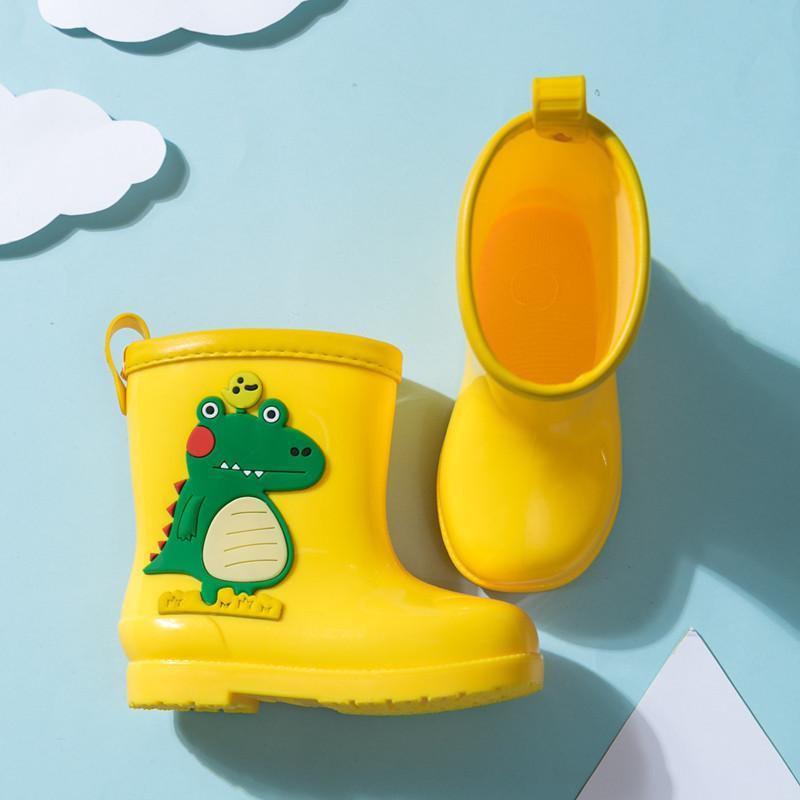 2020 новых детей дождь ботинки детей мальчик девушка мультфильм динозавр напечатанные резиновые сапоги детские малыши водонепроницаемые водяные ботинки дождя C0119