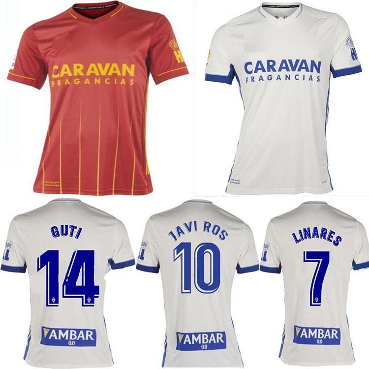 2021 Real Zaragoza Suarez Linares Soccer Jersey 20 21 Home Javi Ros Camisa Away Kagawa Futebol Uniforme