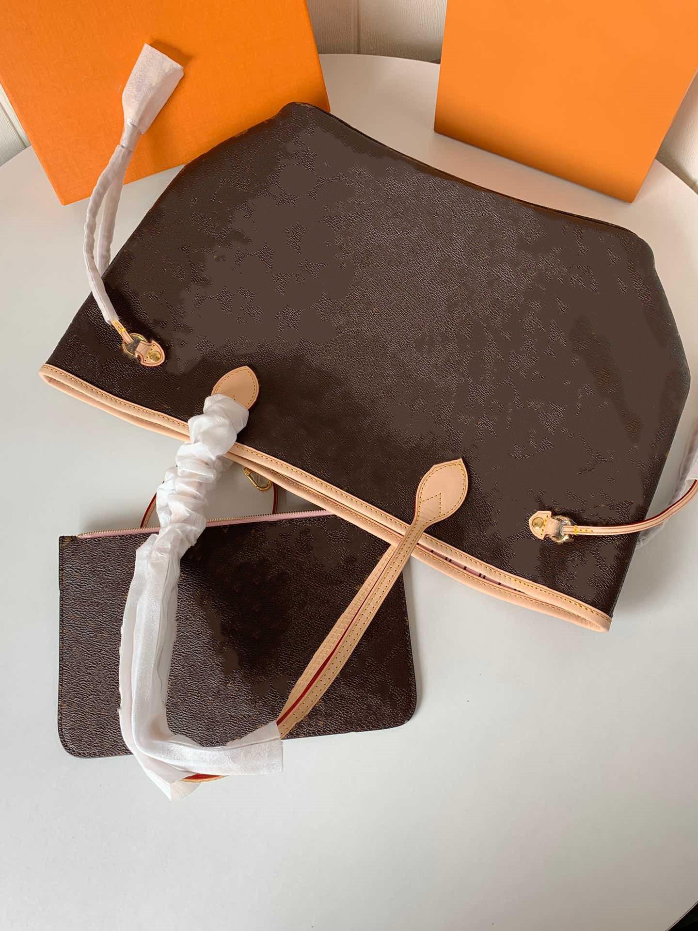 2020 새로운 여성 가죽 핸드백 여성 어머니 패키지 가방 손 어깨 가방 여성 가방 + 작은 가방