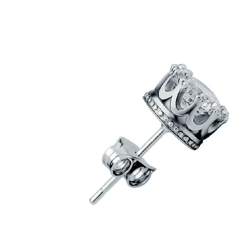مكعب زركونيا أقراط تاج أزياء المرأة الماس فضة أقراط الأذن خاتم الزواج الأزياء والمجوهرات الإرادة والرملية جديدة