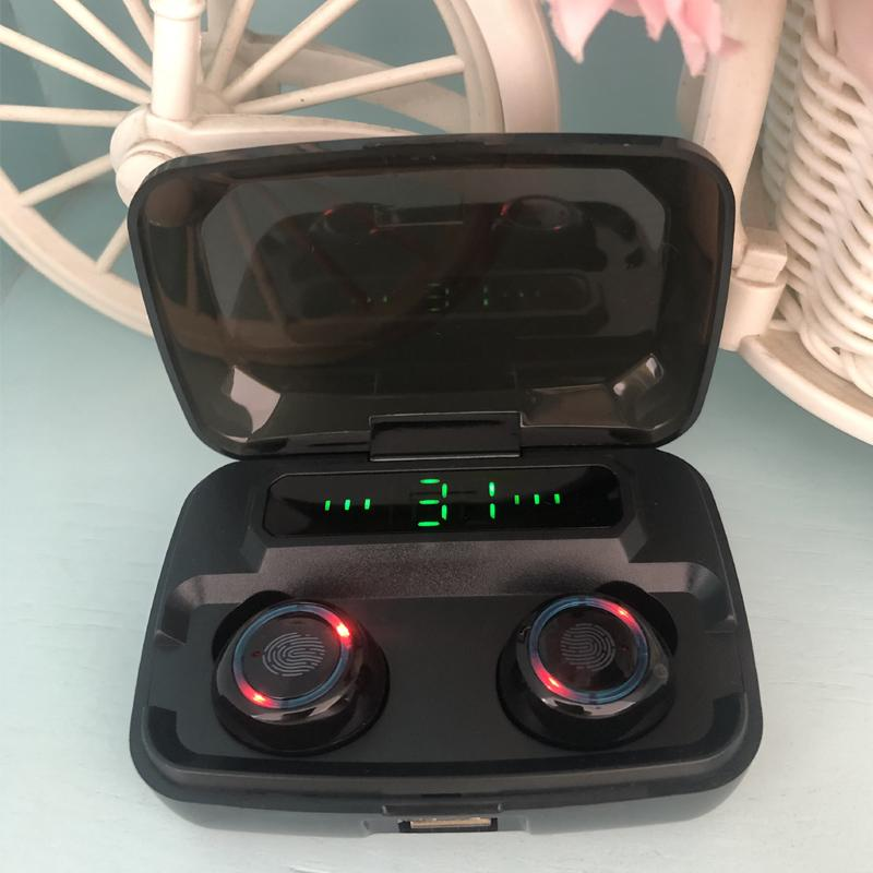 Bestes Design Tws M11 Wireless Ohrhörer in Ohr Bluetooth 5.0 Kopfhörer mit LED-Display Touch Sports Headset IPX7 Heavy Bass Fast Ship