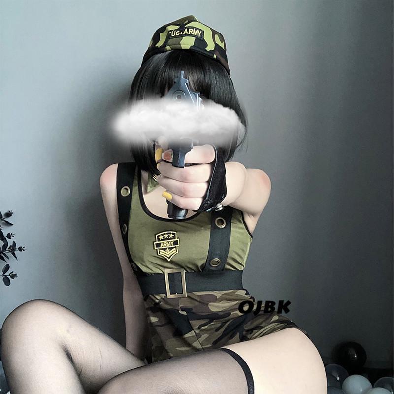 Refroidir Fille Armée Uniforme Costume Soldat Roleplay Policière Sexy Halloween Party instructeurs militaires Cosplay Vêtements