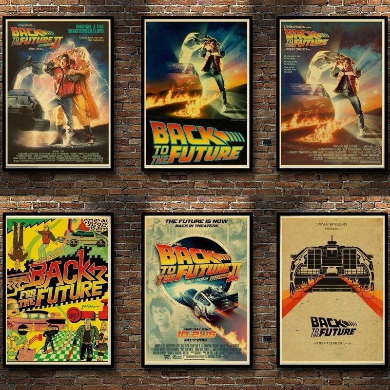 Papel de parede Award clássico filme Back To The Future Vintage Retro Poster Kraft Adesivos Para Home Living Room Bar Decoração JvPP #