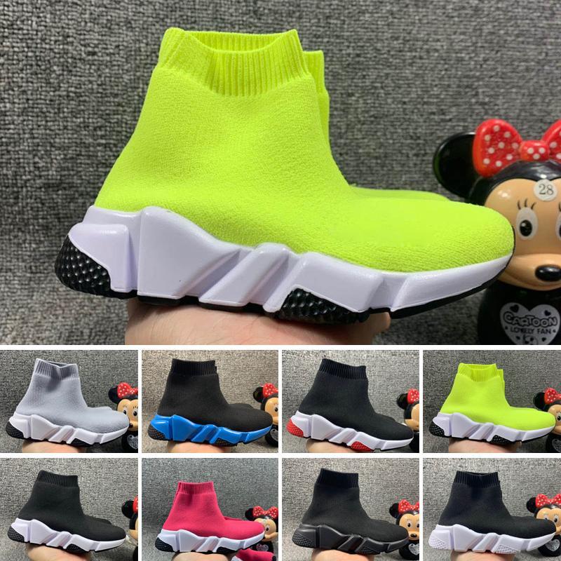 Balenciaga 2020 Vente en gros Vente Enfants Kid Chaussette Chaussures Chaussures Crew Chaussette Formatrices Chaussures Chaussures Enfants Hight Top Sneakers Botter EUR 24-35