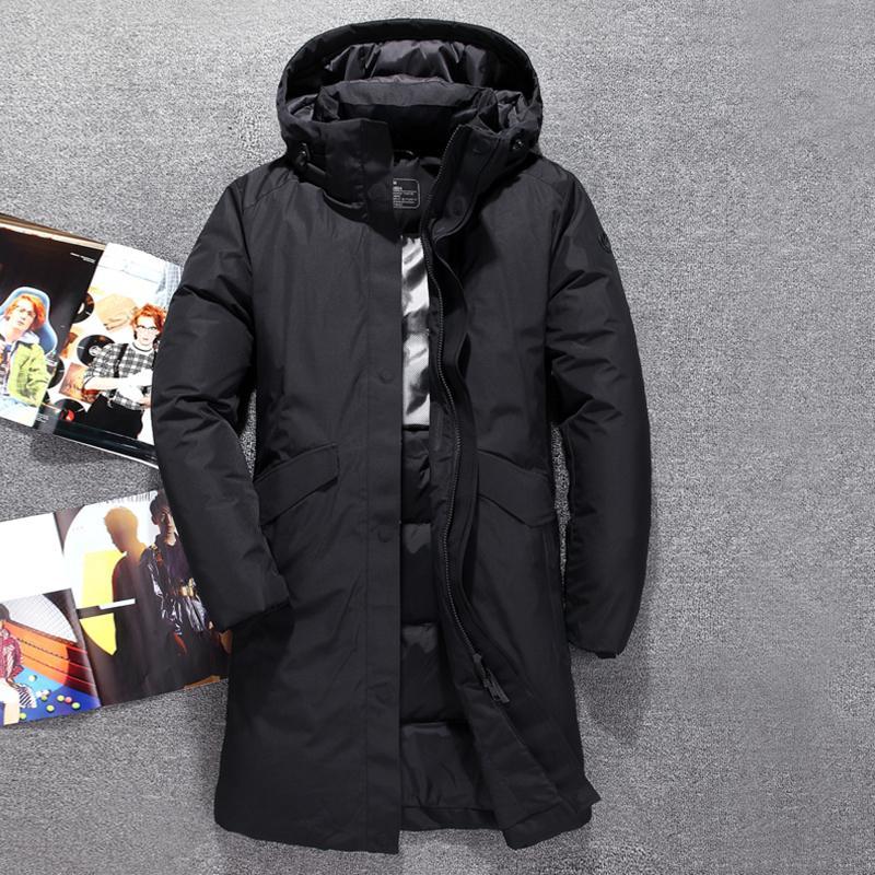 Jacket longue Hommes Hommes Top Qualité épaisse Winter Nouveau chapeau détaché Parka chaleureuse étanche à l'eau étanche -30 degrés 3073 201023