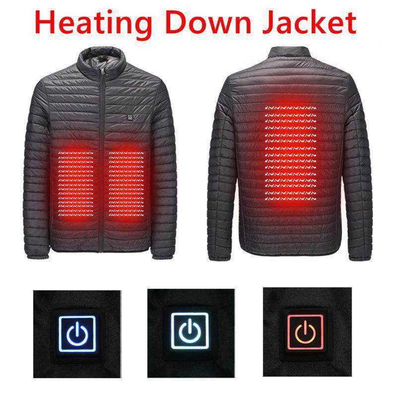 Al aire libre Escudo USB Calefacción eléctrica flexible chaquetas de invierno térmica Pesca ropa de manga larga ropa de senderismo calefacción caliente abrigo