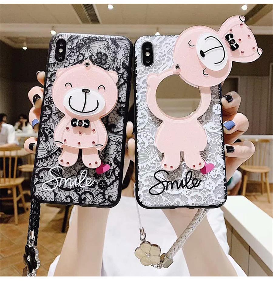 Креативный макияж зеркало телефон случае для Iphone 12 Mini Pro максимально хорошего качества крышка телефона для Iphone 7/8 плюс Huawei mate30 P40
