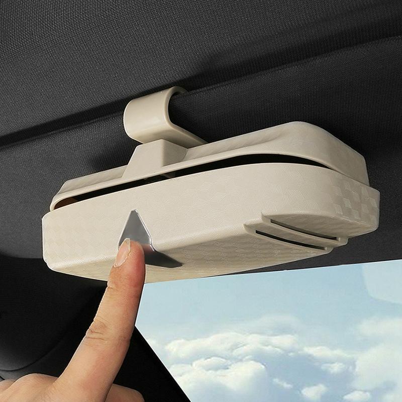 Auto-Glas-Kasten-Speicher-Halter Sonnenbrillen Fall Sonnenschutz Aufbewahrungstasche für Karten und Münzen Auto-Innen Assessoires
