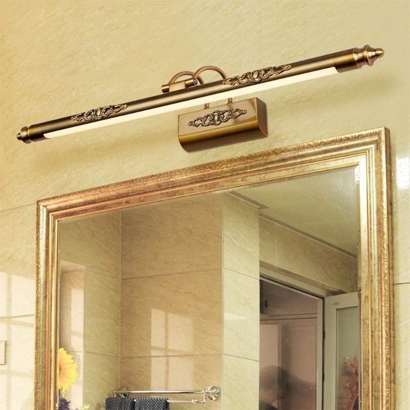Banyo Su Geçirmez LED Duvar Lambaları Dolap Vanity Ayna Işıkları Bronz Tuvalet Vanity Duvar Aplikleri CE Makyaj Aydınlatma Armatürleri