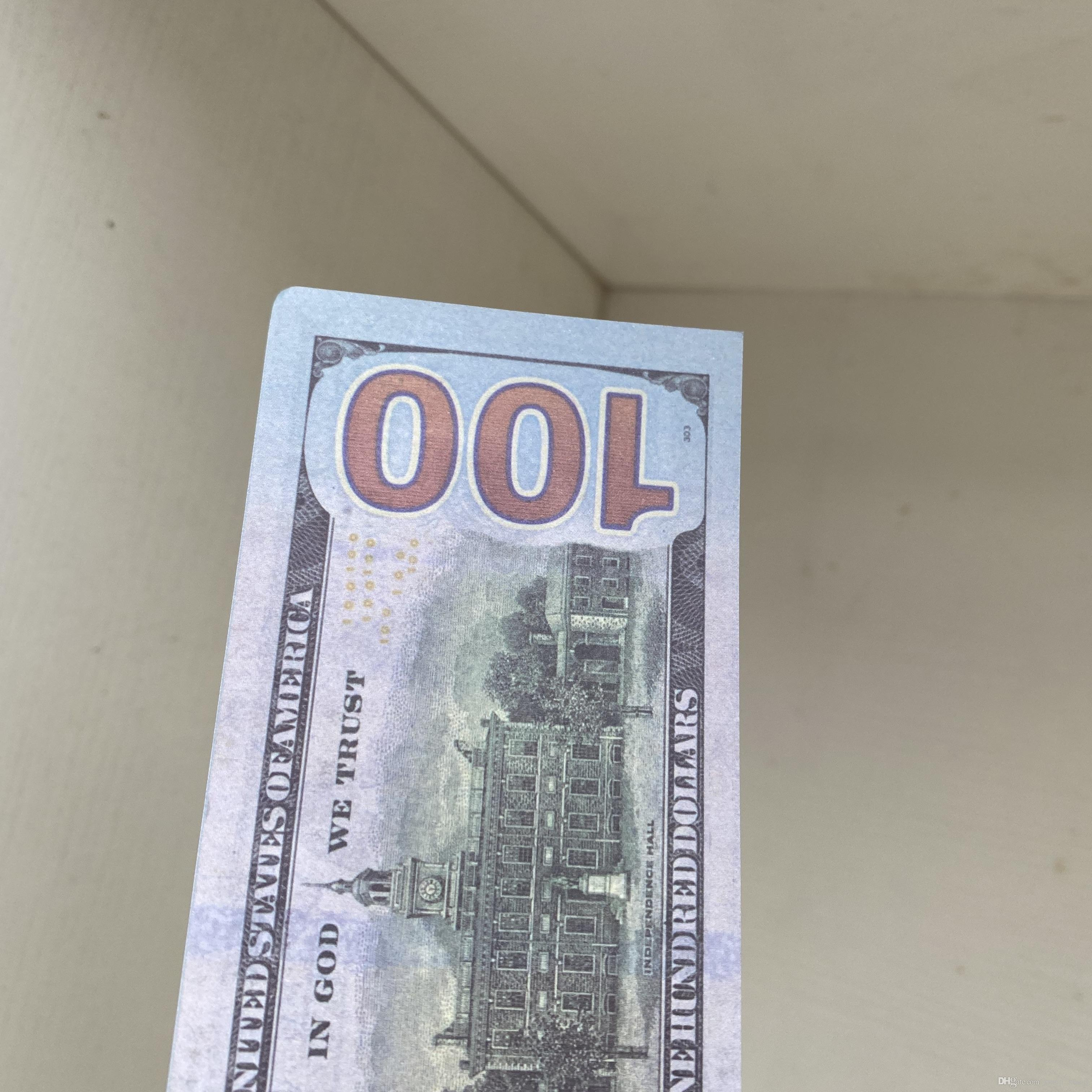 Toy326 100 шт. / Пакет / пакет / доллар / доллар Банкнота Семейная игра PROP MONEY или США Бумага большинства детей копировать реалистичные MXSUX