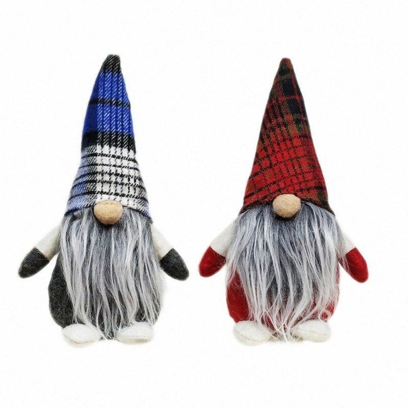 Gebunden Beard Gnome Handgemachte schwedische Weihnachten Navidad Weihnachts Tomte Plüsch-Puppe Ferien Toy Weihnachten Startseite Ornaments J5ws #
