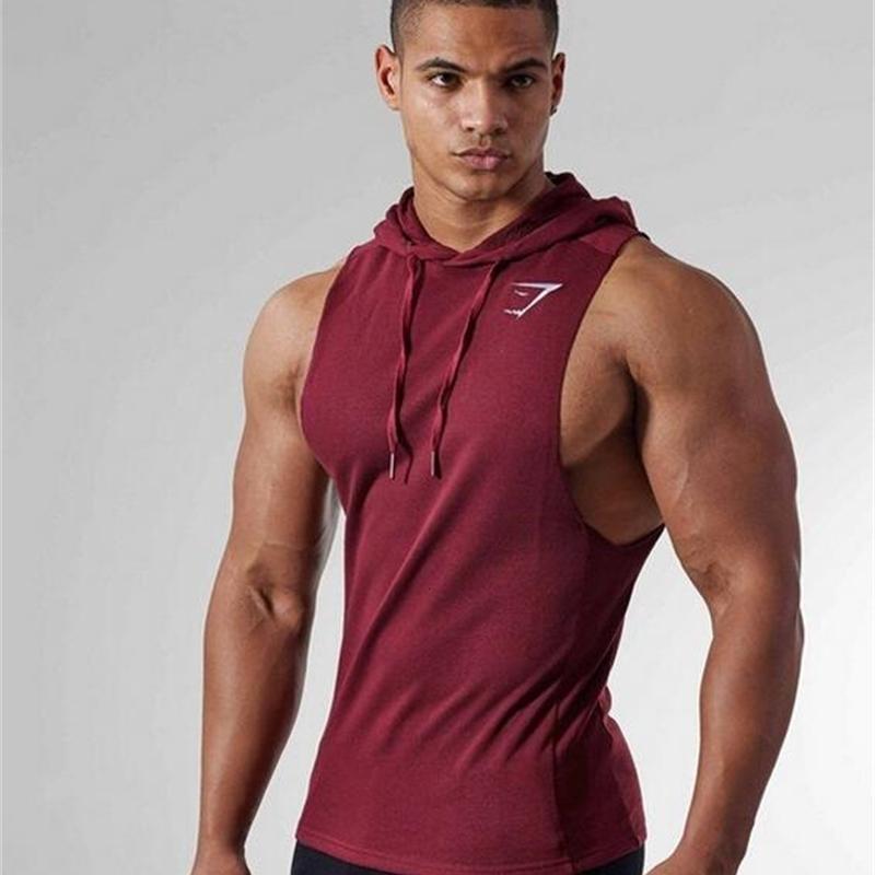 Spor Egzersiz Tank Gömlek Kolsuz Erkek Vücut Geliştirme Tank Erkekler Rasgele Yaz Vest Tops 2019 Spor Yelek Pamuk Casual Tops