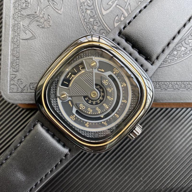 2021 Новое Прибытие Высочайшее качество Мужские Часы Винтажные Классические Моды Натуральная Кожа Человек Наручные Часы Автоматические механические Часы Подарок