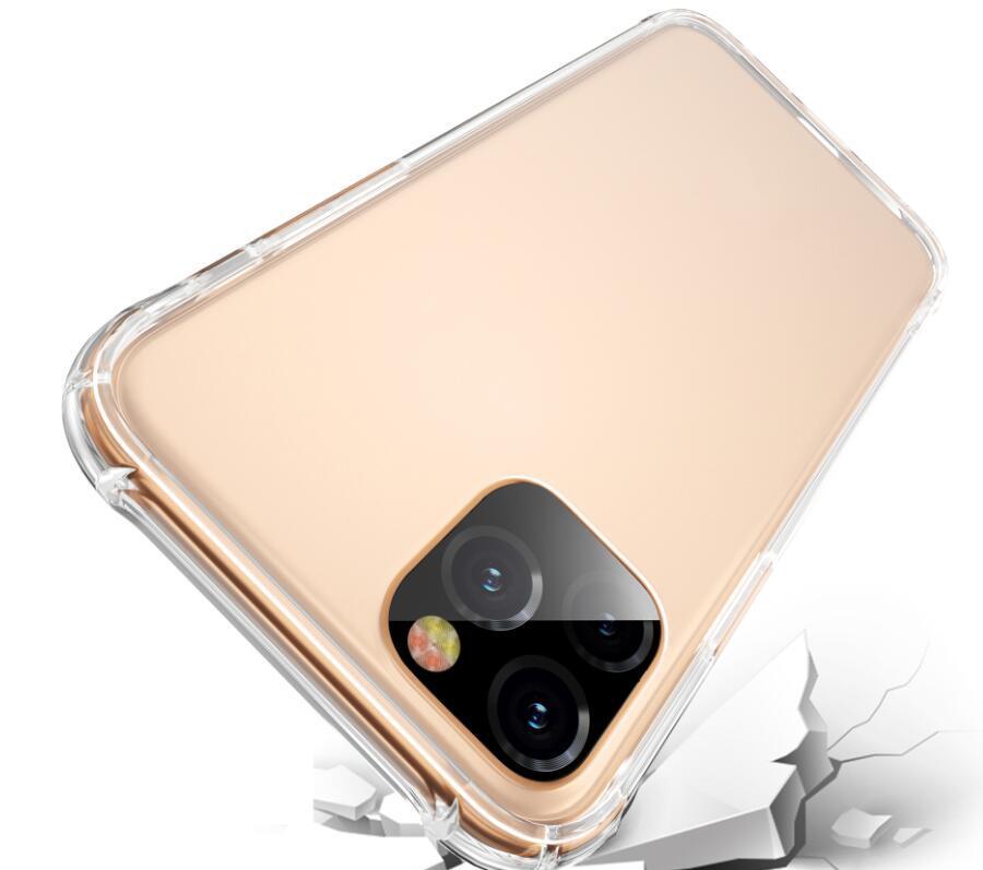 حالة الهاتف الشفاف آيفون 12 11 ميني برو ماكس XS XR 8 7 زائد سامسونج S20 TPU واقية صدمات واضحة حالة الغطاء 2021