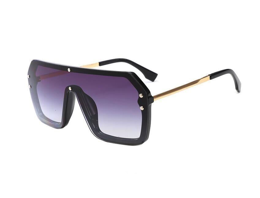 Moda ca klasik bir parça tasarımcı ile f harfleri kare güneş gözlüğü kadın büyük boy büyük çerçeve vintage güneş gözlükleri erkekler ayna 6998