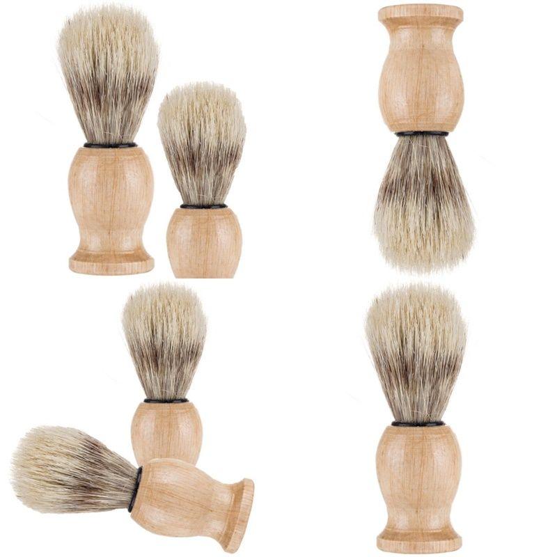 النايلون المواد الخشبية اللحية فرشاة التطهير شعيرات الحلاقة أدوات الرجال الذكور الحلاقة فرش المنزلية في الهواء الطلق هدايا السفر 5WM N2