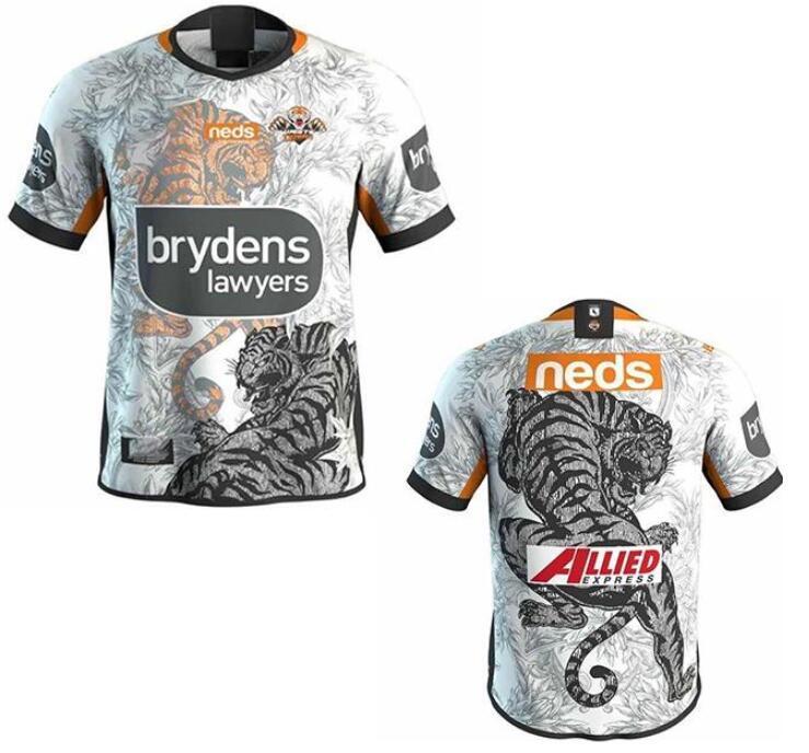 2020 West Tiger Rugby Jerseys French Hero Edition White Blue League Shirt Polo Souvenir T-shirt Mens Top Quality Club Australia Sizs: S-5XL