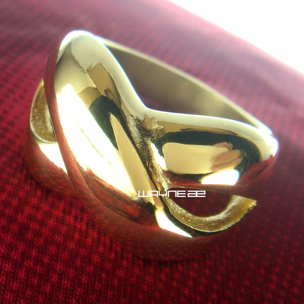 Schmuckgröße8-9 18Kt Gold gefüllt Engagement Ehering R252