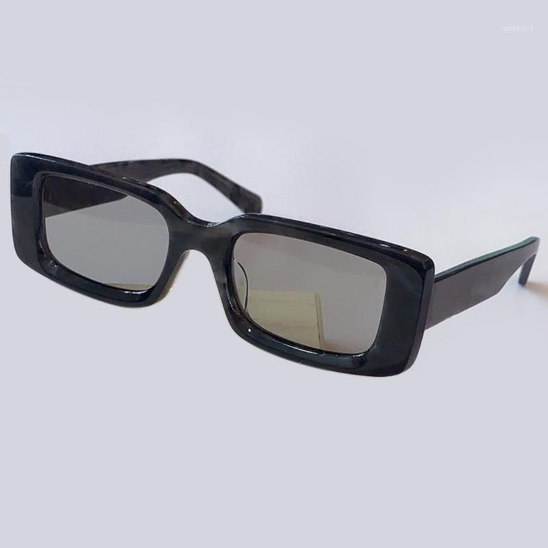 Старинные прямоугольные солнцезащитные очки для женщин / мужчин Очки для очков для женщин1
