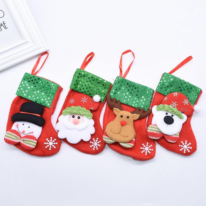 Dekoration Stocking Geschenke von Santa Elk Socken Schöne Geschenk-Beutel für Home Kamin Weihnachtsbaum hängen Dekor