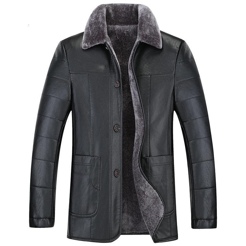 Artı boyutu 10XL 8XL 6XL 5XL Yeni Erkekler Gerçek Deri Ceket koyun derisi erkek kısa Ceket deri kışlık mont Ücretsiz Kargo mens