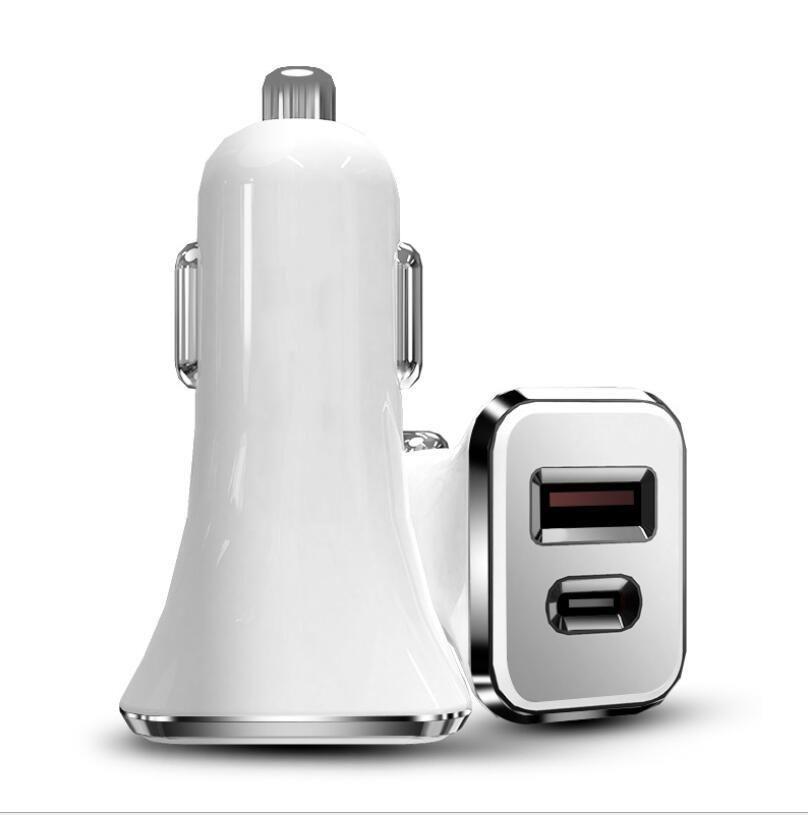 36W PD 차량용 충전기 QC 3.0 + USB 타입 C 삼성 노트에 대한 빠른 차 전화 충전기 (10) (12) 20w