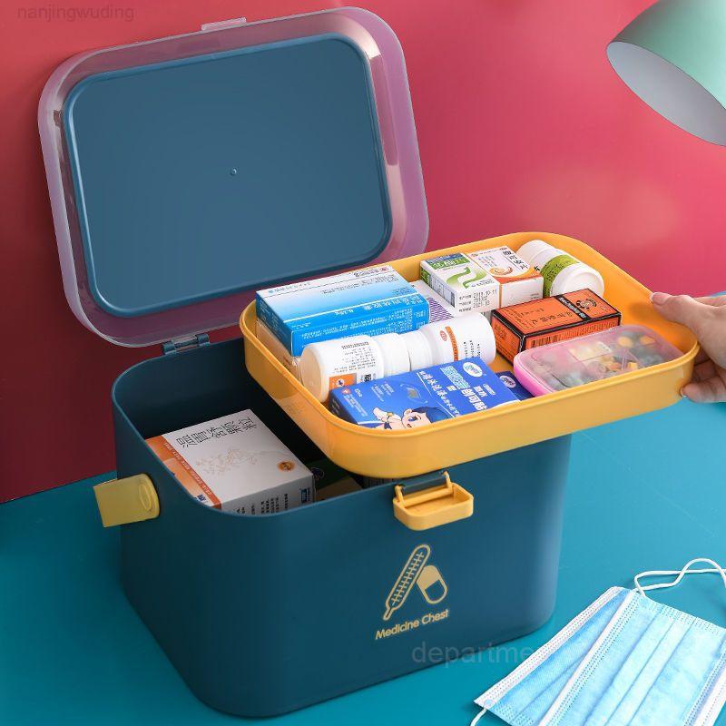 Haushalt große Kapazität medizinische Erste Hilfe mehrschichtiger Notfallaufbewahrungsbox Familienmedizin