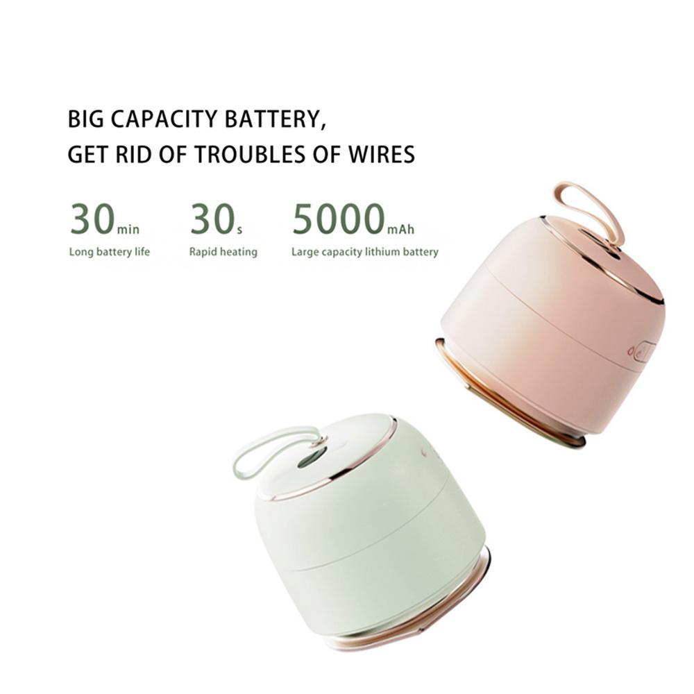 3 في 1 البخار اللاسلكية السفر البسيطة الحديد مع حجم قوة البنك حقيبة السفر الصغيرة خفيفة الوزن السريع التدفئة