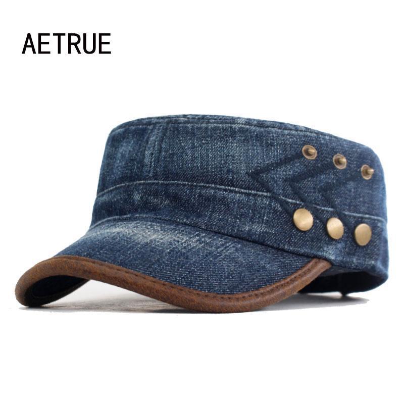 Jeans Denim Mode Hommes Chapeaux Femmes Vintage Coton Sport papa Gorras Planas armée chapeaux pour hommes Snapback Cap Hat