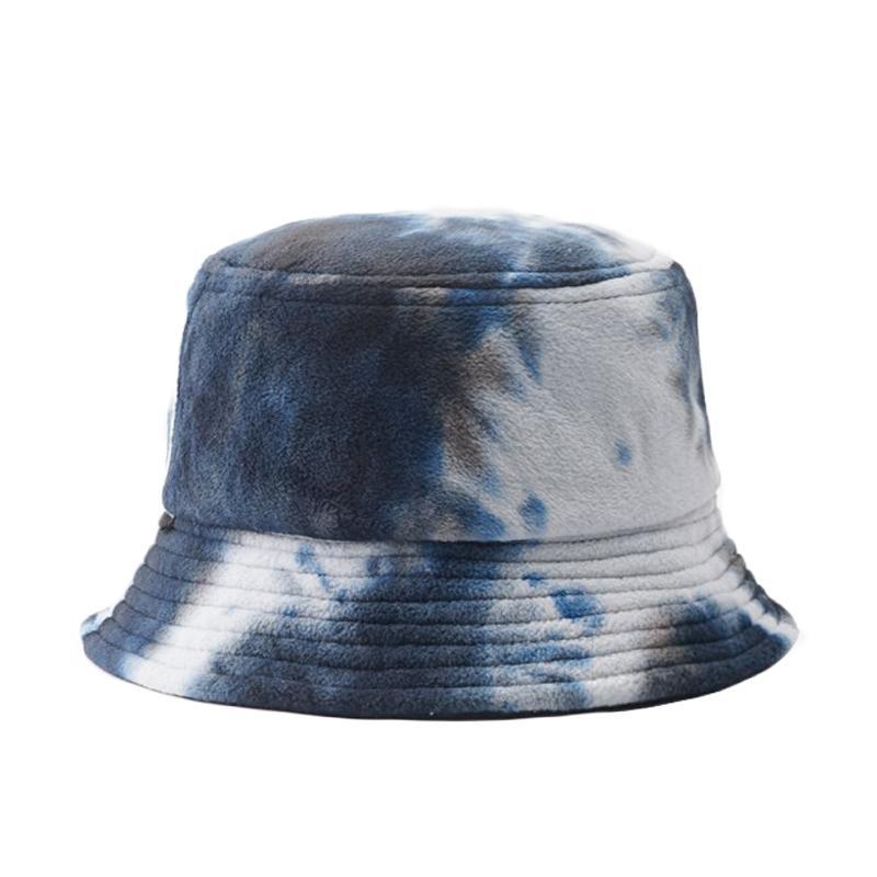 2020 kpop INS Tie Dye Cappellino per le donne gli uomini della peluche tessuti Bacino di inverno delle signore della protezione di modo caldo Fisherman Cappelli