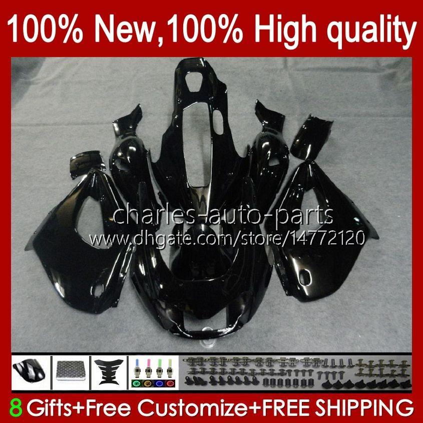 Bodys für Yamaha Black Glossy Hot Thunderace YZF1000R YZF-1000R 96 97 98 99 00 01 96HC.2 YZF 1000R 02 03 04 05 06 07 1996 1997 2007 Verkleidung