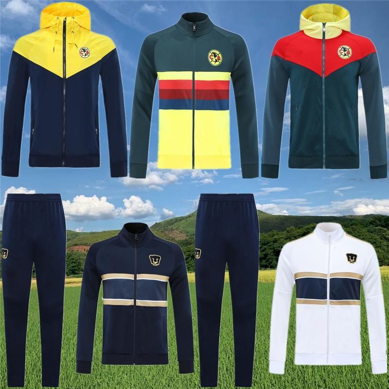 2020 2021 chaqueta Club América camiseta de fútbol O.PERALTA con capucha de la chaqueta rompevientos ropa deportiva traje de entrenamiento de fútbol del jersey 20 21 trotar